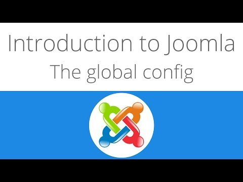 Joomla For Beginners Tutorial 5 - The Global Config