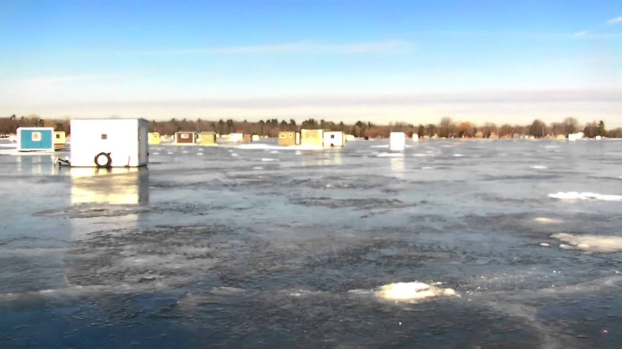 Icefishing with the rooster ice report shawano lake for Wisconsin out of state fishing license