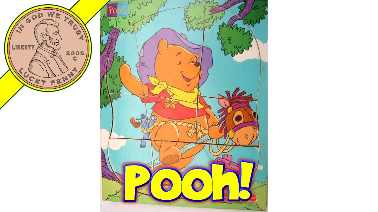 disney winnie the pooh cowboy 41687 wood frame tray puzzlestop motion animation - Winnie The Pooh Picture Frame