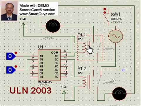 Microcontroller interface to Relays by ULN 2003 YouTube