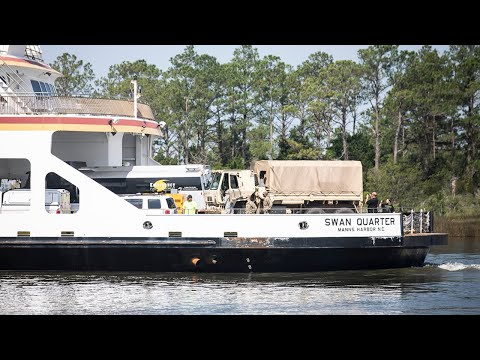 Supplies Sent By Ferry To Ocracoke To Aid In Hurricane Dorian Relief