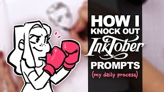 DAILY INKTOBER ROUTINE! |  How I Draw Everyday | Inktober Day 09 | India Inks & Dip Pens | Precious