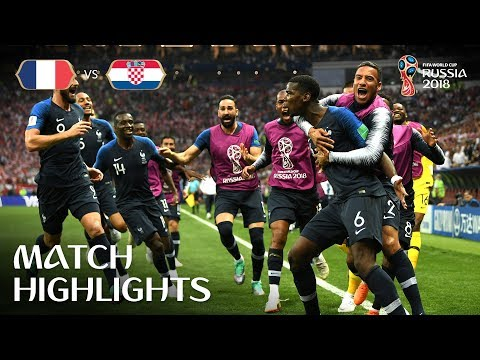 FIFA World Cup  2018 Final Highlights - FRANCE VS CROATIA
