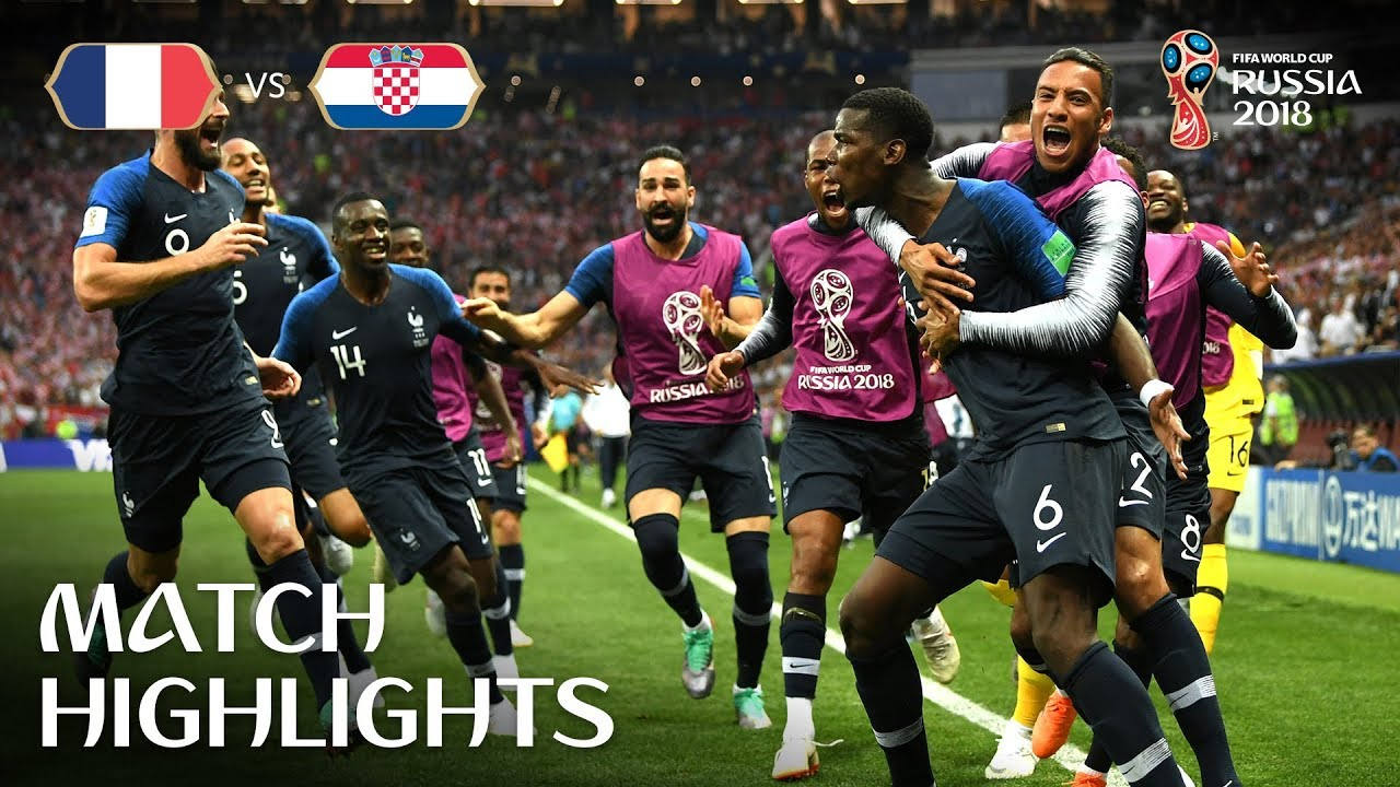 2018 World Cup Final France 4 2 Croatia Youtube