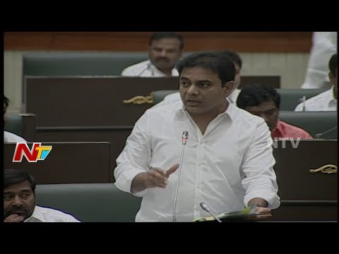IT Minister KTR Replies to Questions in Telangana Assembly    Telangana Budget Session 2018    NTV