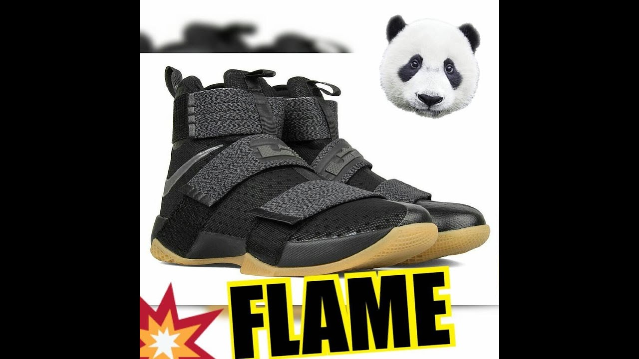 "reputable site fccb4 e7c99 NIKE LEBRON Soldier 10 ""Black Gum"" FIRST LOOK"
