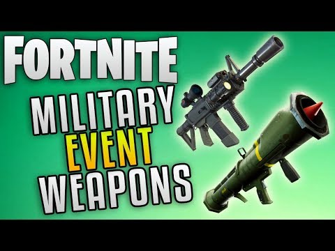 """Fortnite New Military Weapons """"Fortnite Save The World Update News"""" Fortnite Tactical Assault Rifle"""