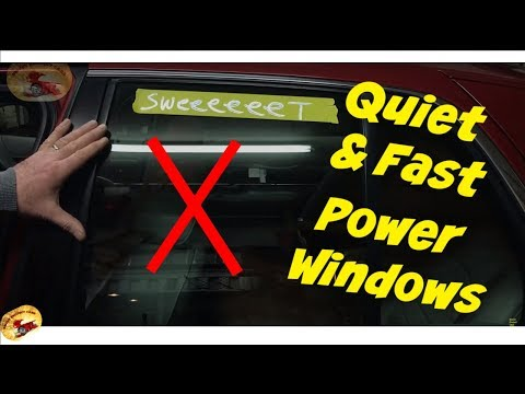 How To STOP Squealing And Slow Power Windows