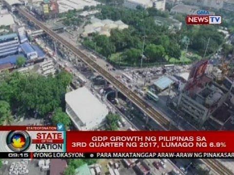 SONA: GDP growth ng Pilipinas sa 3rd Quarter ng 2017, lumago ng 6.9%