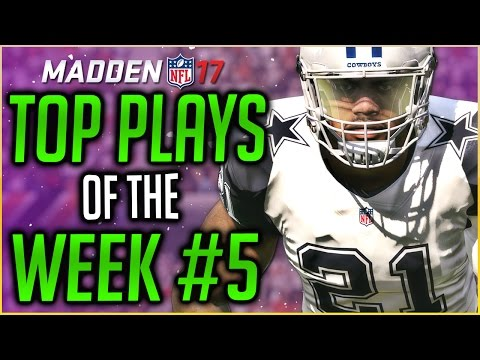 UNREAL INTERCEPTION TOUCHDOWN! MADDEN 17 TOP PLAYS OF THE WEEK - EP5