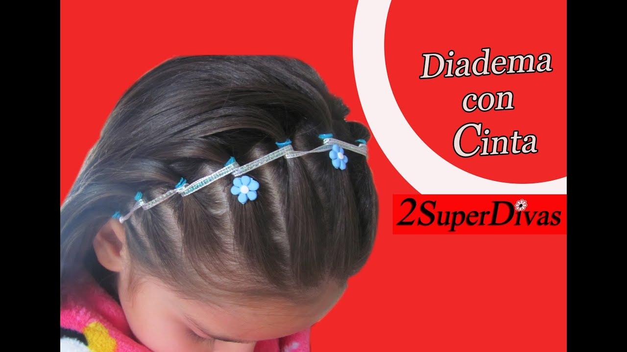 Tutorial peinado Diadema decorada con Cinta Ideal para Niñas, bodas, prom, quince años, pajesitas , YouTube