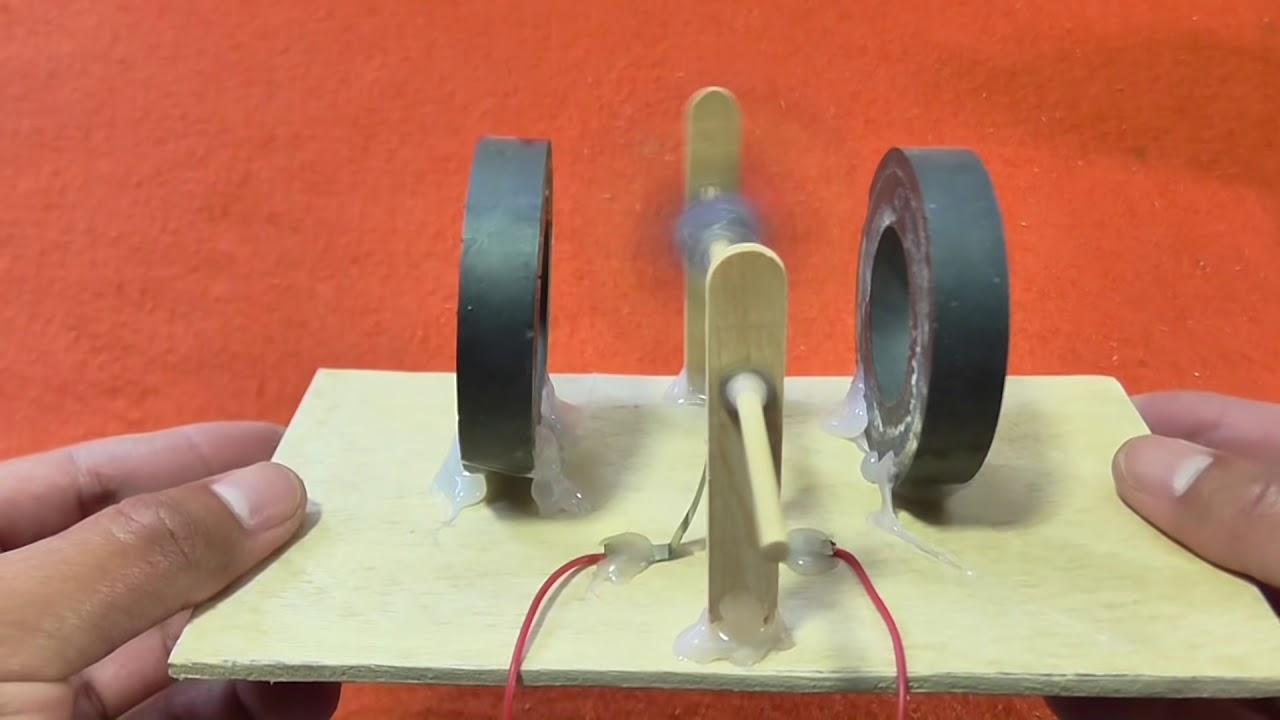 Motor Eléctrico Casero de Corriente Continua