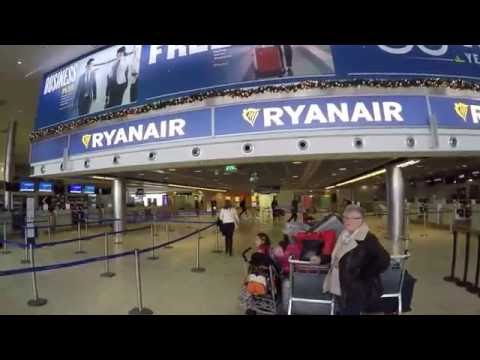 Dublin Airport outside and check in desk Full HD GOPR0357