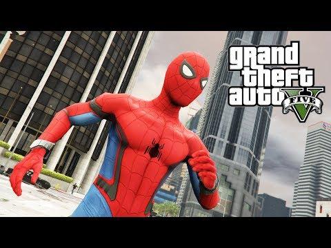 """NAJLEPSZY SUPERBOHATER SPIDER-MAN W GTA V SINGLEPLAYER """"MARVEL SUPERHERO"""" #327 [PL/HD]"""