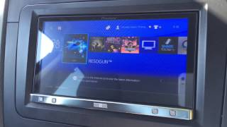 Playstation 4 installed in car using Kustom Konsole PS4-V1-S in car Playststion 4 bracket