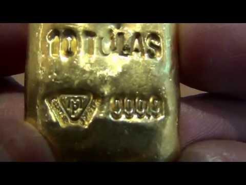 10 Tolas Gold Bar - Swiss Bank Corporation (3.75 oz)