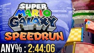Super Mario Galaxy Any% Speedrun in 2:44:06