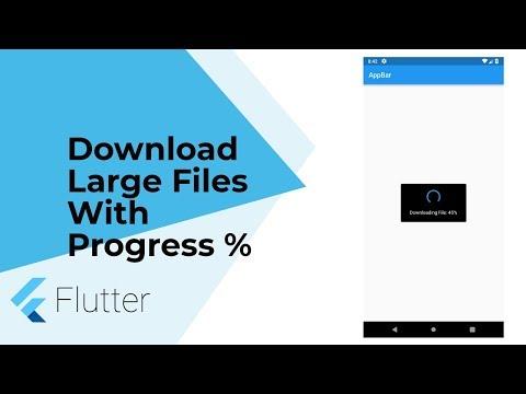 Flutter Advanced: Download Large Files (Pdf, Json, Image Etc) With Progress %