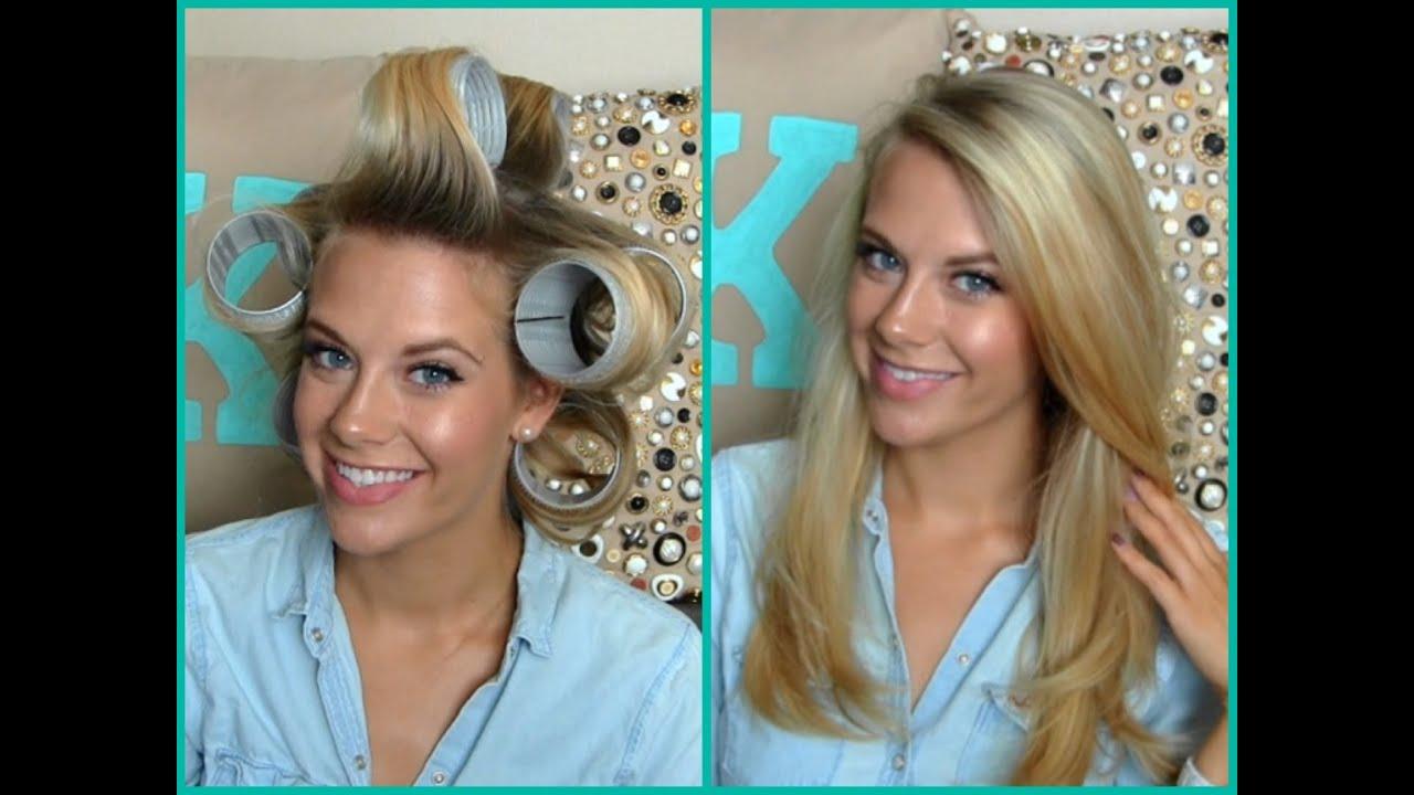 voluminous hair using velcro rollers youtube