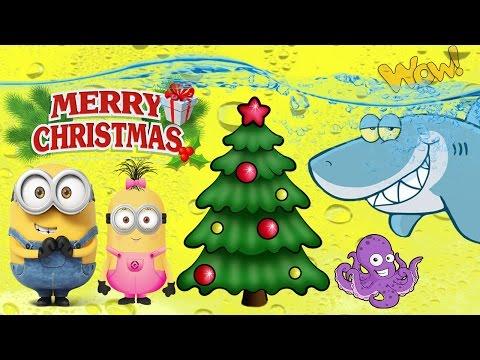 MINIONS MARINE LIFE'S CHRISTMAS  | Christmas Tree under water | KIDS TUBE - FUNNY ANIMATION