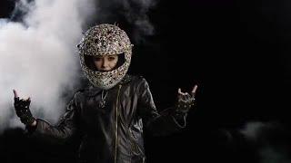 Rock On Bedazzled Biker Stock Video