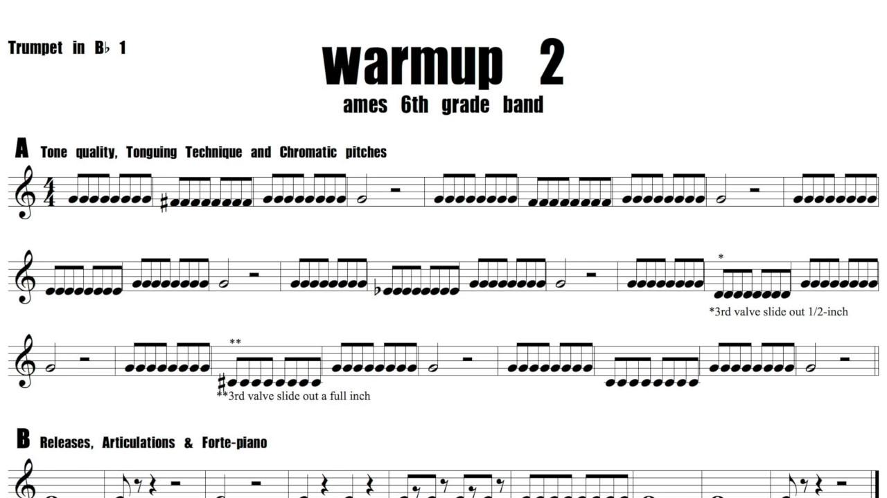 6th warmup 2 Trumpet