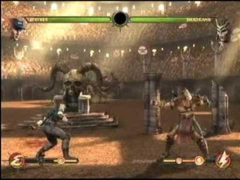 Mortal Kombat 9 Ladder mode Stryker  vs Shao Kahn Final boss