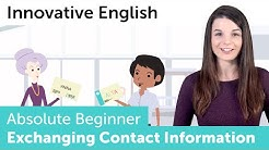 How to Excange Contact Information in English - Innovative English