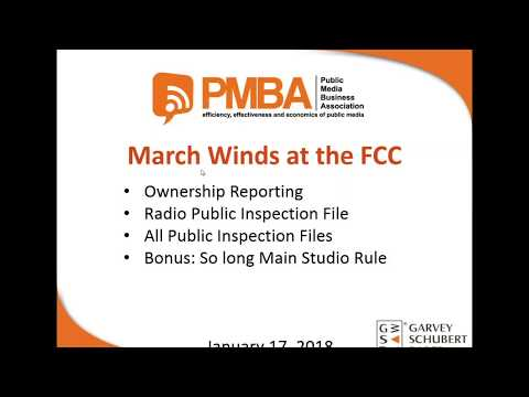 PMBA Toolkit: March Winds —Ownership Report and Radio Online Public File Deadlines Loom