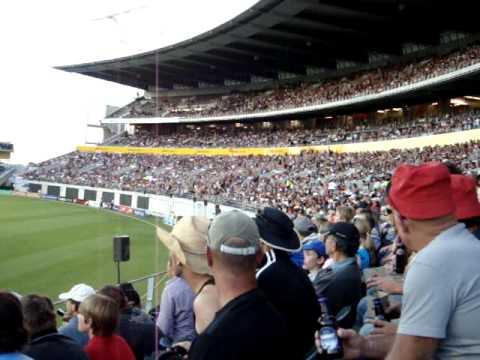 Mexican wave AMI stadium Christchurch