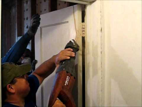 Interior House Demolition Preparation For Renovation.wmv