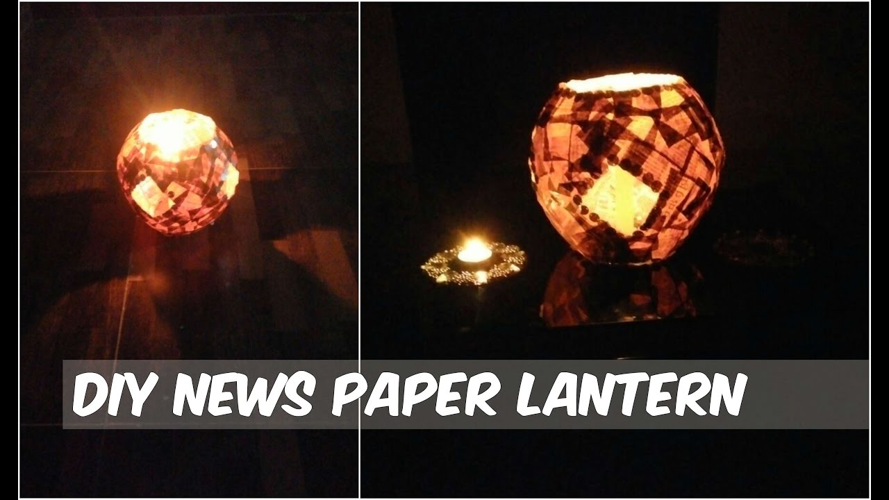 Newspaper lantern best out of waste newspaper lantern for Best out of waste step by step