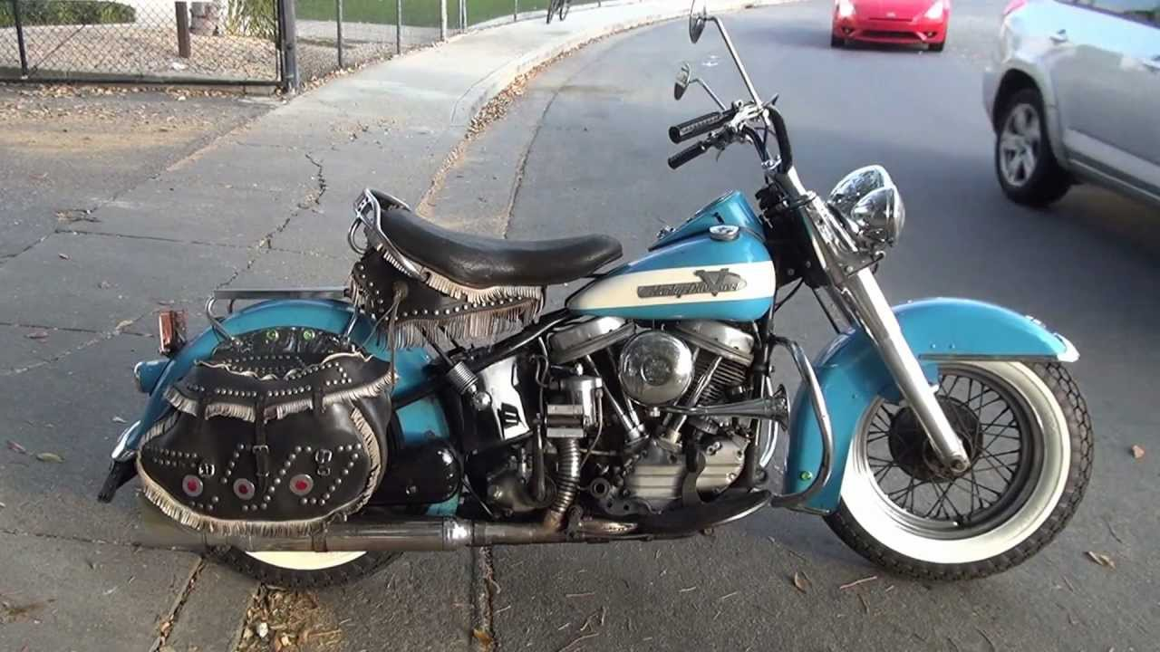 Hunting Harleys 1955 Panhead Spring Special Color Original Paint