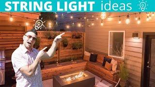 String Lights (Backyard Patio Ideas)