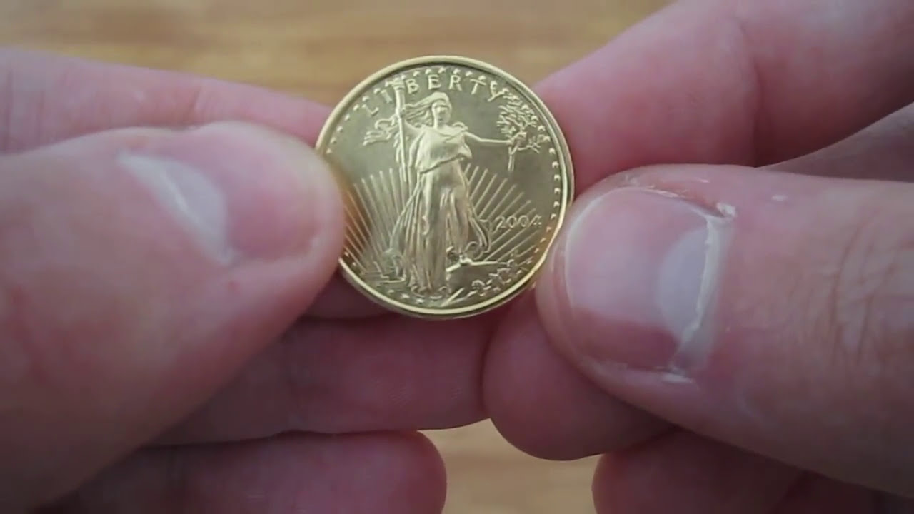 1 4 Oz American Gold Eagle Youtube