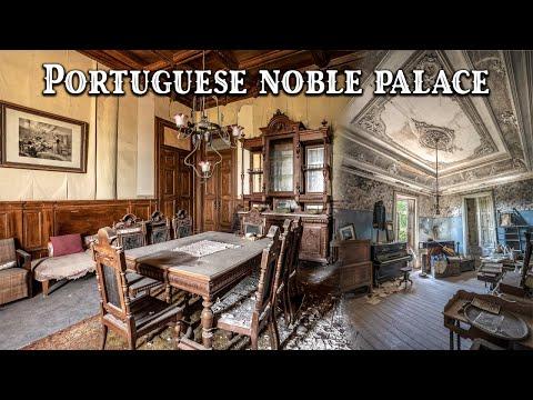 Een adembenemend verlaten nobel Portugees paleis verkennen   Aangevallen door wi