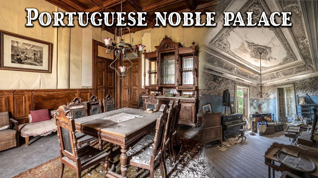 Download Exploring a breathtaking abandoned noble Portuguese PALACE | Attacked by wild boars!