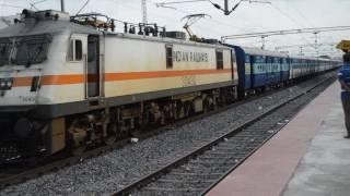 satavahana express to bza with lgd india flag wap7