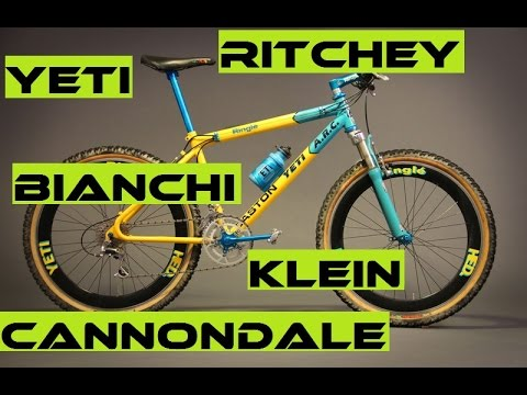 Top 5 Most Wanted Vintage Bikes: Klein, Cannondale, Bianchi, Yeti, Ritchey. RETRO