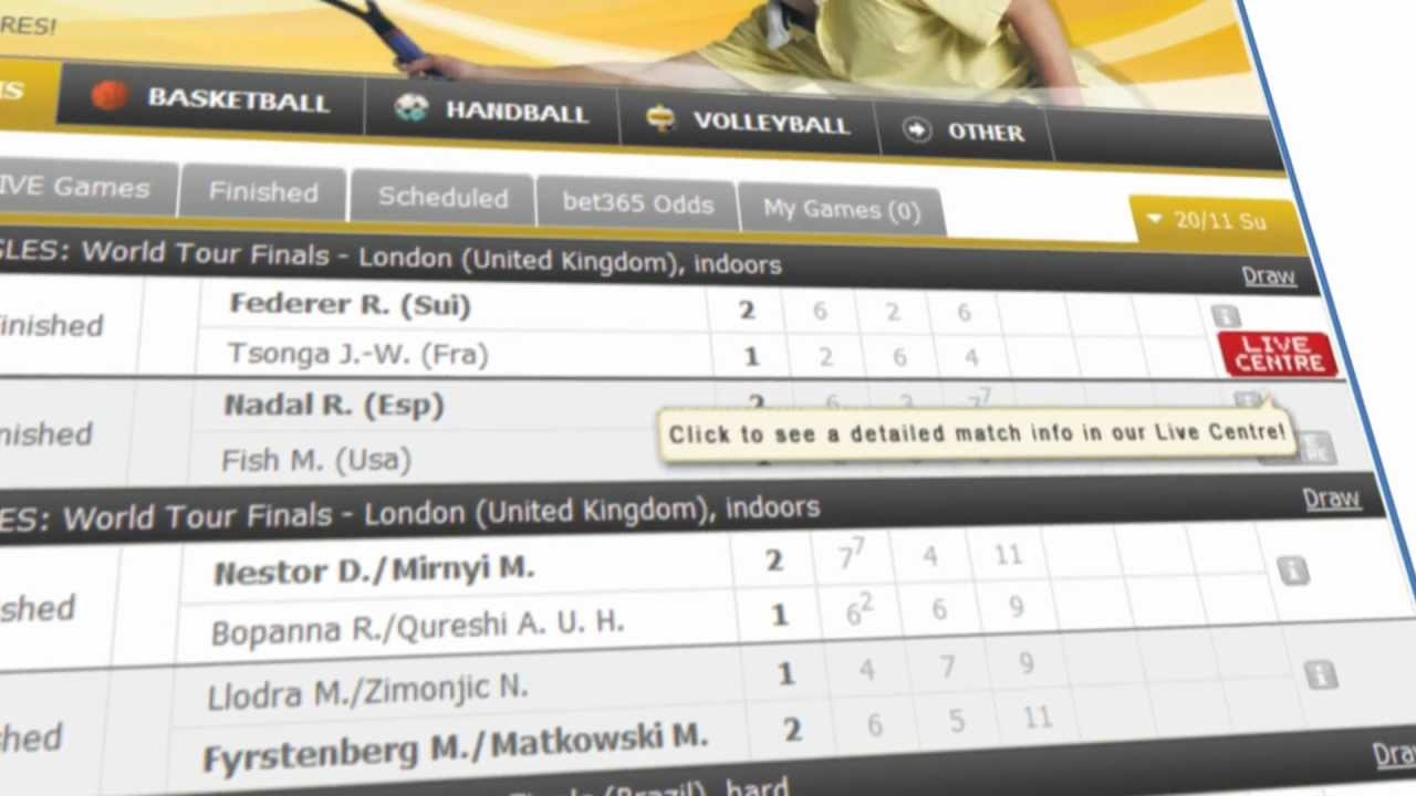 Flashscore Com Tennis Live Centre Youtube