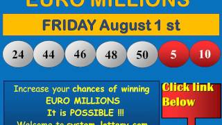 results euromillions friday august 1 winning numbers