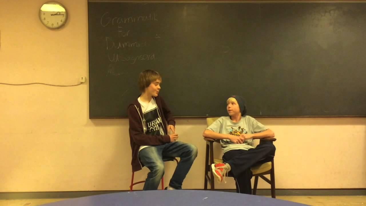 Udsagnsord Med Bjarne Og Brian (Skole Projekt)