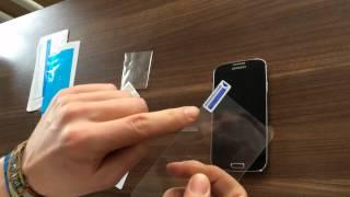 Samsung Galaxy S4 Glas Schutzfolie anbringen von PhoneNatic