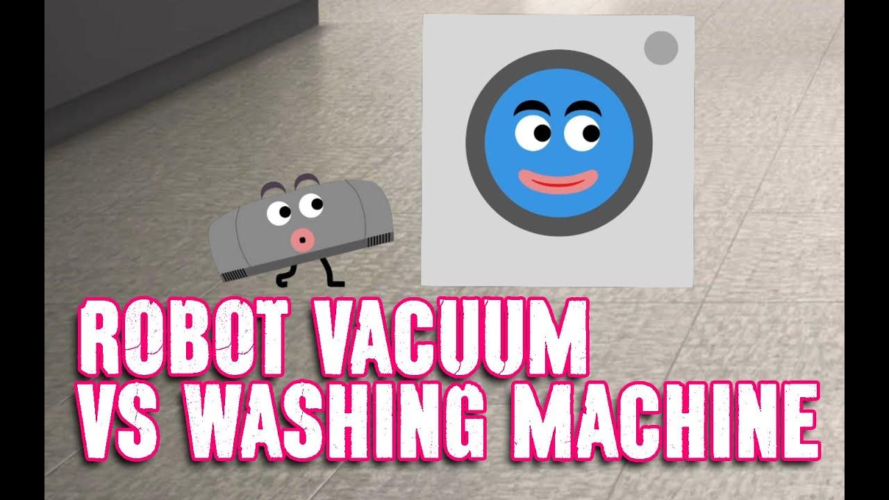 Vacuum Cleaner Cartoon Robot Vacuum Cleaner Vs Washing