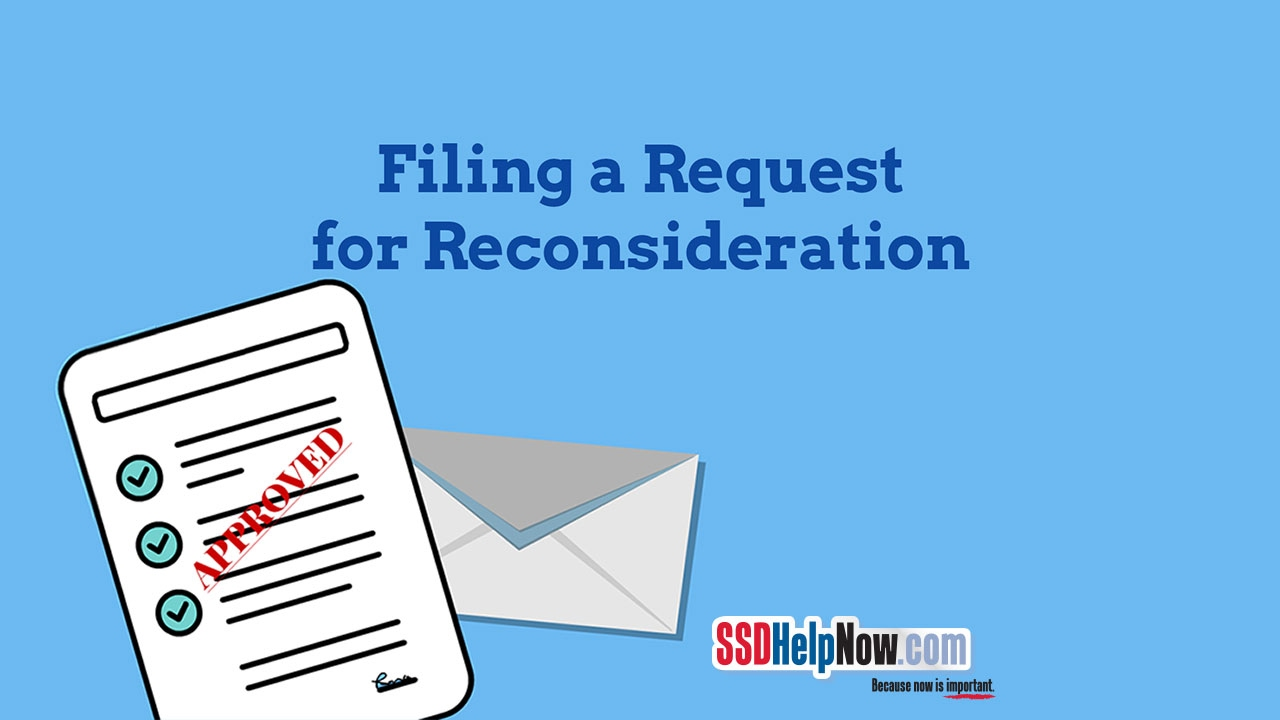social security disability appeal request for reconsideration youtube