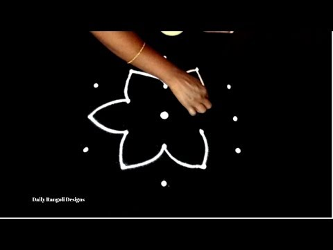Beautiful simple daily kolam with 5*3 dots | easy rangoli muggulu designs | best new kolam designs