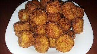 Toptha me patate dhe vezë ( balls with patatoe and egg)