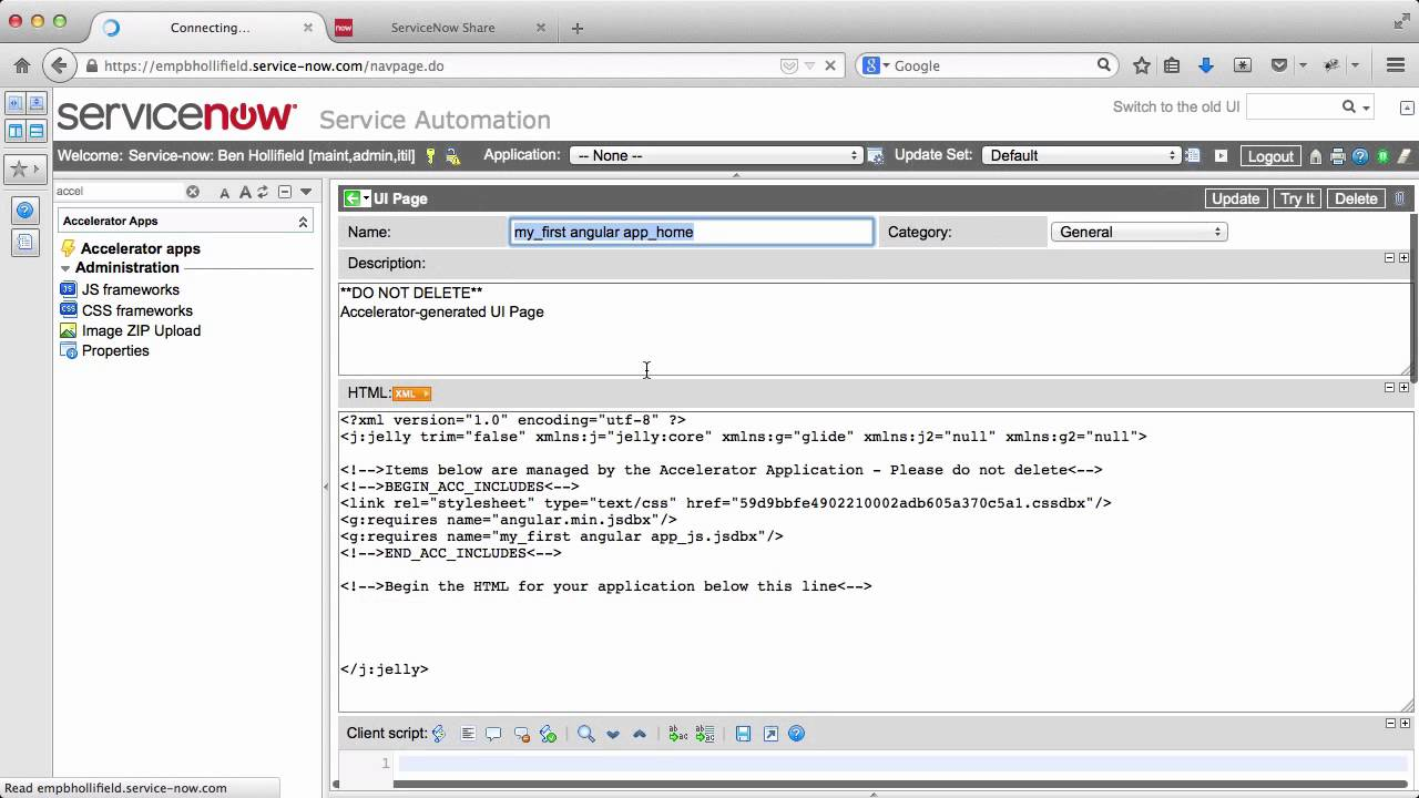 Getting Started with AngularJS in ServiceNow - Developer