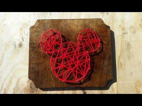 Mickey Head String Art