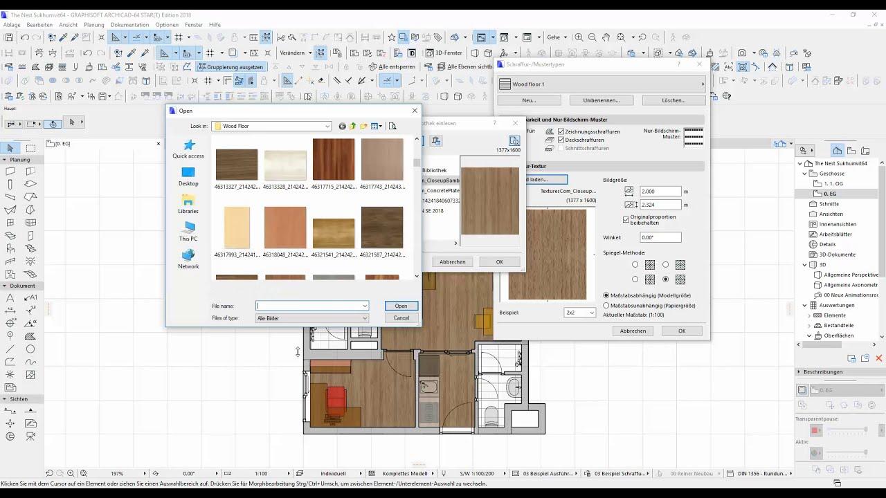 How to create new texture easy in archicad / การสร้างเท็กเจอร์ใหม่